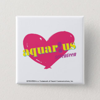 Aquarius 15 Cm Square Badge
