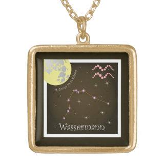 Aquarius 21 January until 18 February necklace