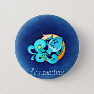 Aquarius 6 Cm Round Badge