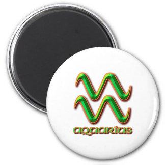 Aquarius 6 Cm Round Magnet