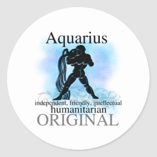 Aquarius About You Classic Round Sticker