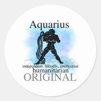Aquarius About You Round Sticker