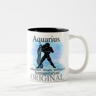 Aquarius About You Two-Tone Coffee Mug