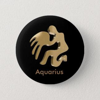 Aquarius, Acquario 6 Cm Round Badge
