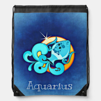 Aquarius, Acquario Drawstring Bag