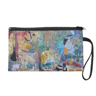 Aquarius - An Artsy Sleek and Fashion Wrist Purse Wristlet Purse