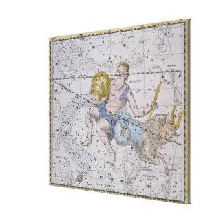 Aquarius and Capricorn, from 'A Celestial Atlas', Canvas Print