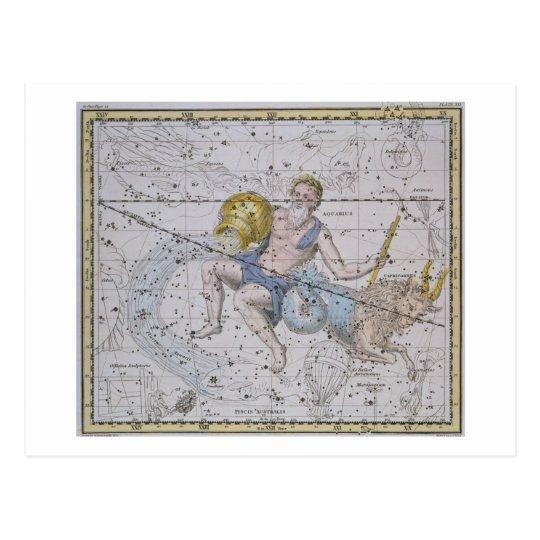 Aquarius and Capricorn, from 'A Celestial Atlas', Postcard