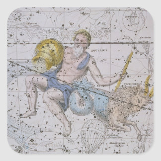 Aquarius and Capricorn, from 'A Celestial Atlas', Square Sticker