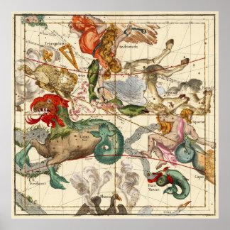 Aquarius, Andromeda, Pegasus, Phoenix And Others Poster