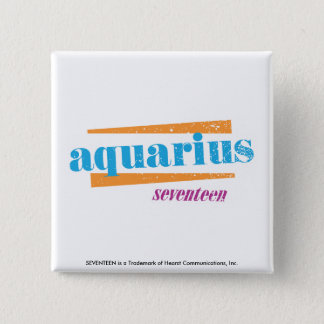 Aquarius Aqua 15 Cm Square Badge