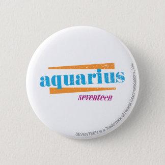 Aquarius Aqua 6 Cm Round Badge