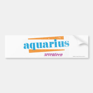 Aquarius Aqua Bumper Sticker