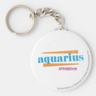 Aquarius Aqua Key Ring