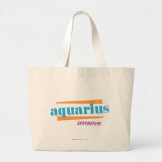 Aquarius Aqua Large Tote Bag