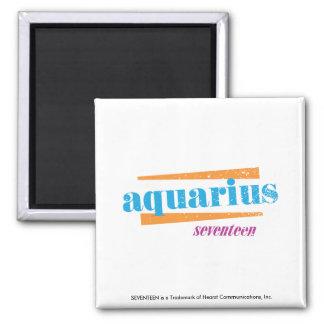 Aquarius Aqua Square Magnet