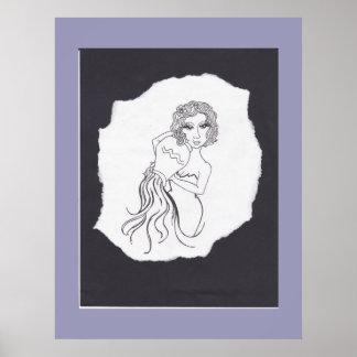 """Aquarius"" art by CFW Poster"