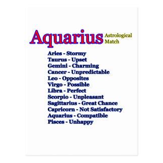 Aquarius Astrological Match jGibney The MUSEUM Zaz Postcard