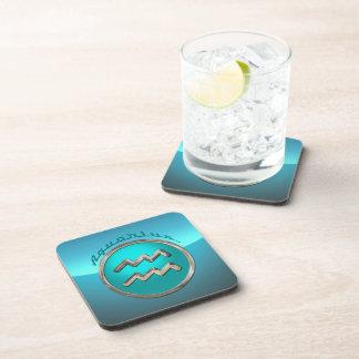 Aquarius Astrological Sign Drink Coasters