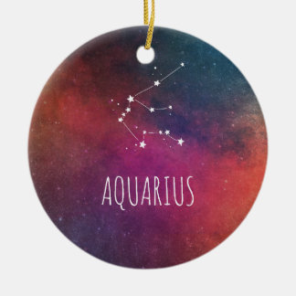 Aquarius Astrology Christmas Ornament