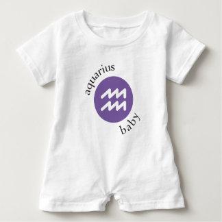 Aquarius Baby Symbol Baby Bodysuit