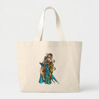 Aquarius Belly Dancer art Large Tote Bag