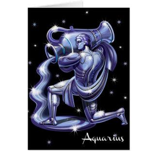 Aquarius Birthday Card