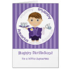 Aquarius Boy - Happy Birthday Card
