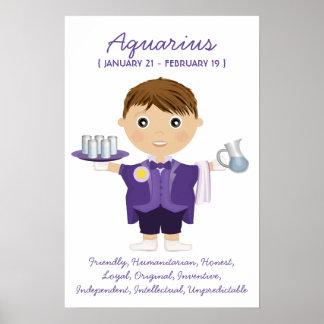 Aquarius - Boy Horoscope Poster
