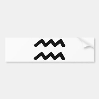 Aquarius Bumper Sticker