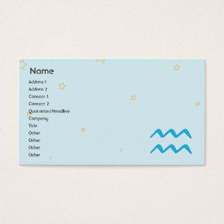 Aquarius - Business Business Card