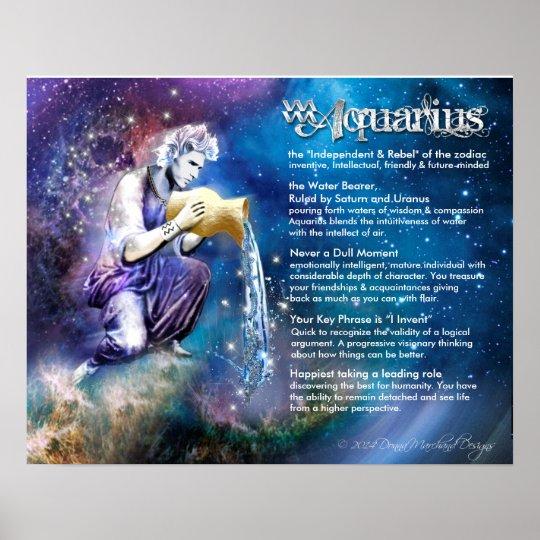 Aquarius Characteristics Poster