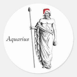 Aquarius Christmas Classic Round Sticker