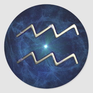 Aquarius Classic Round Sticker