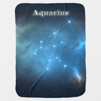 Aquarius constellation baby blanket