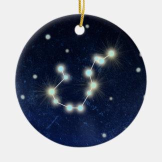 Aquarius Constellation | Custom Name Christmas Ornament