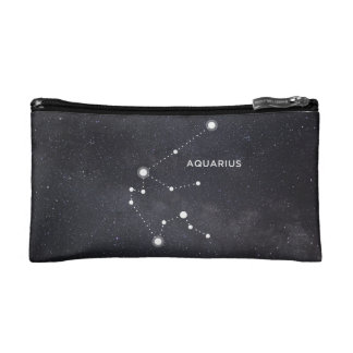 Aquarius Constellation Zodiac Sign Cosmetic Bag