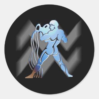 Aquarius - Designer Zodiac Sticker