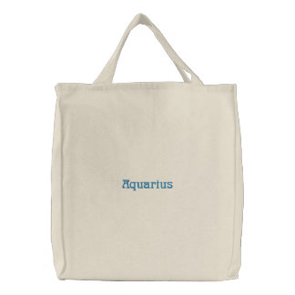 AQUARIUS EMBROIDERED TOTE BAG