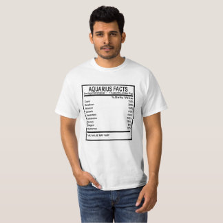 AQUARIUS FACTS DISCRIPTION . T-Shirt