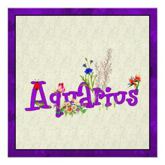Aquarius Flowers Announcements