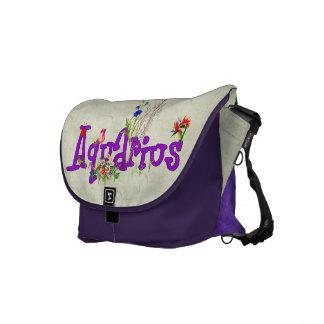 Aquarius Flowers Commuter Bag