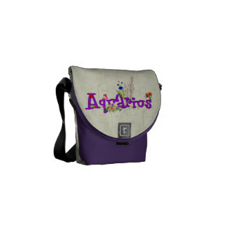 Aquarius Flowers Courier Bag