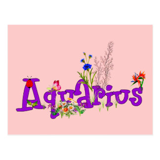 Aquarius Flowers Postcard