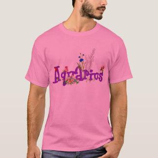 Aquarius Flowers T-Shirt