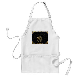Aquarius golden sign standard apron