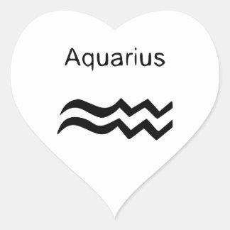 Aquarius Heart Sticker