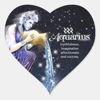 Aquarius Heart Stickers
