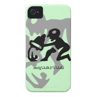 Aquarius in black iPhone 4 Case-Mate case