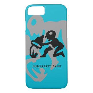 Aquarius in black iPhone 7 case